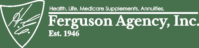 HE Ferguson Agency Logo in White